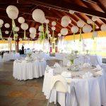 wedding setup terrace